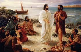 Jesus speaks ot Peter