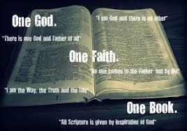 One God, one book