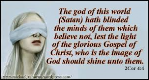 Image result for image blinded by Satan