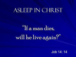 Asleep in Christ