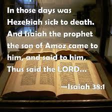 Hezekiah becomes sick